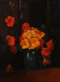 still life with marigolds by jacob simon hendrik kever