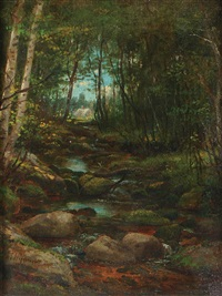 stream through the woods by george frank higgins