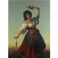 young italian woman by rudolf w. a. lehmann