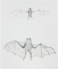 flying creatures (6 works) by kiki smith