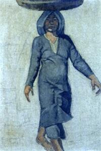 etude d'une amanite debout portant un panier sur la tête by evariste jonchère