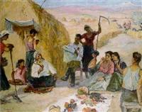 reading the news by karlen rukhikyan
