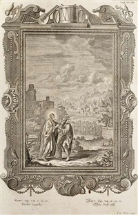 augsburg, figural motifs (set of 50) by johann georg pintz