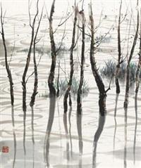 太湖 by wu guanzhong
