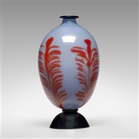 piumato vase (or attributed to s.a.i.a.r. ferro-toso) by artisti barovier