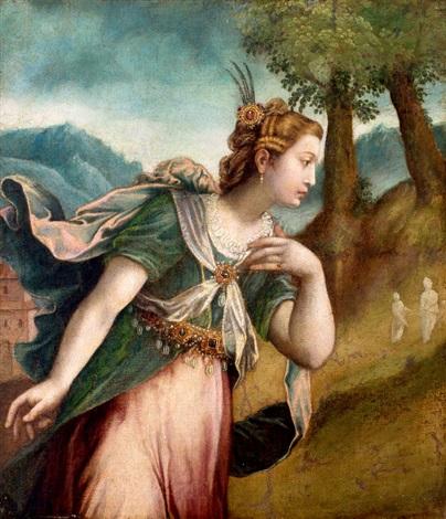 vrouw in landschap mogelijk abigael by paolo farinati