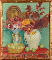 vase de fleurs by henri le roux