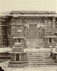 ten small architectural details in halebidu (10 works) by william henry pigou
