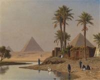 die pyramiden bei gizeh by michael haubtmann