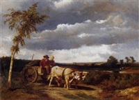 labourers returning home by leopold de cauwer