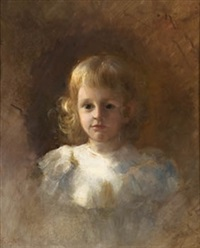 retrato de niña by francisco peralta del campo