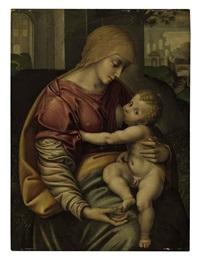 the madonna nursing the christ child by girolamo figino