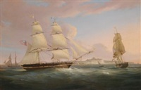 the merchant snow peru off dover by william john huggins