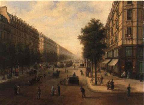 the boulevard malesherbes paris by edmond georges grandjean