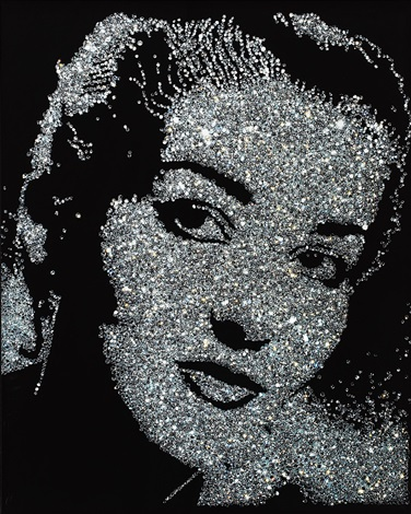 maria callas from pictures of diamonds by vik muniz