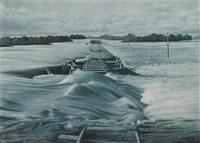flood waters at benghazi, 3rd april 1885 by laura theresa alma-tadema