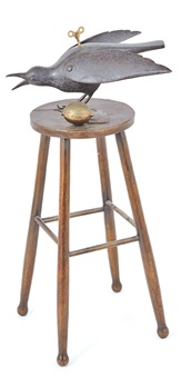 bird on a stool by jonathan campbell