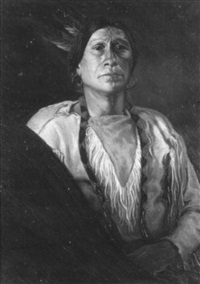 portrait of a native american man by geraldine armstrong scott