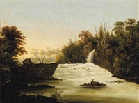 view of passaic falls, new jersey by william henry bartlett