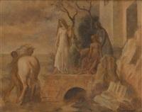 le départ (sketch) by louis buisseret