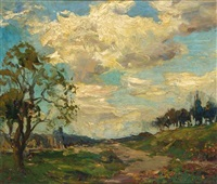 a summer landscape by charles dankmeijer