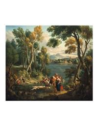 paesaggio con pastori by angelo (angelus del campe) campo