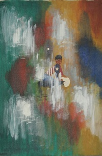 untitled - american jumpsuit in abstract space (12) by john f. leonard