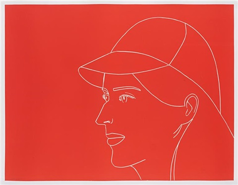 kym with baseball cap by alex katz