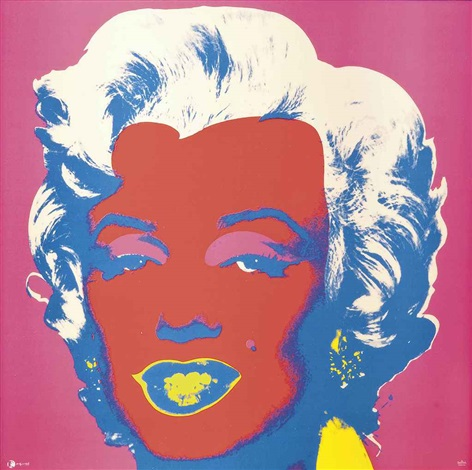marilyn red and pink tile by andy warhol