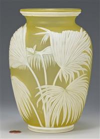 cameo art glass vase by thomas webb