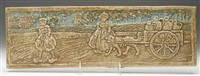 dutch boy and girl with dog-drawn carriage by batchelder tiles