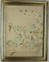 pannello decorativo con galli by adriano spilimbergo