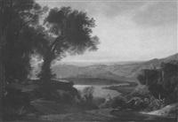 südliche landschaft im abendlicht, albaner gebirge by karl ludwig lincke