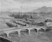 bridge at pau by benjamin tupper newman