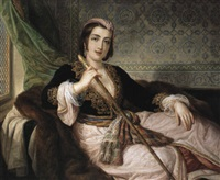 dame phanariote de constantinople by pietro luchine