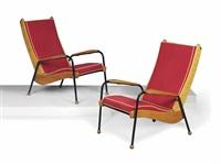 visiteur armchairs (pair) by jean prouvé