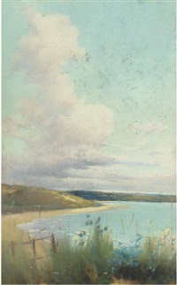 a summer's day on the coast by william samuel henry (sir) llewellyn