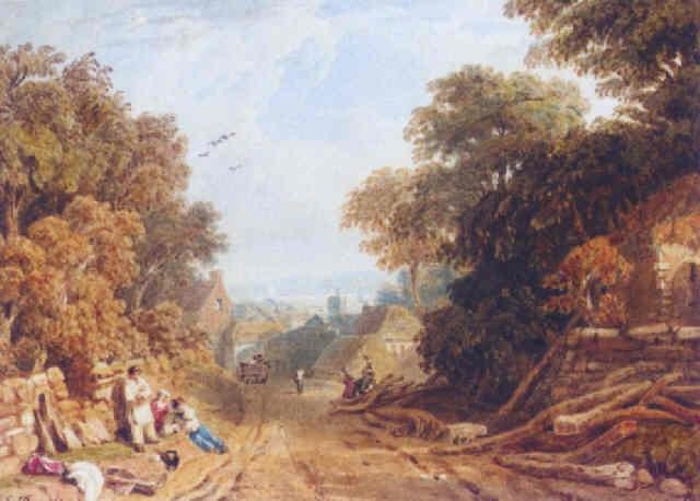 village scene devonshire by edmund dorrell