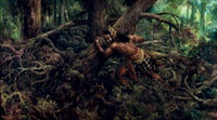 bima mbabat alas (bima clearing the jungle) by s. toyo