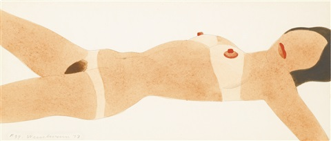 open-ended nude (variable edition) #39 by tom wesselmann