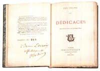 dédicaces (bk by paul verlaine with portrait) by frederic-auguste cazals