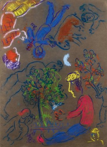 le rêve de lhomme au profil jaune by marc chagall