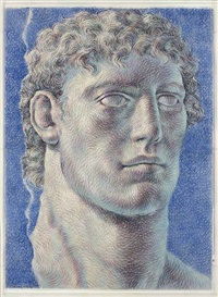 head of a young man by ricardo cinalli