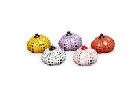 pumpkins (set of 5) by yayoi kusama
