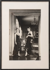 lee miller and marion hovehouse at conde nast's apartment, new york by cecil beaton