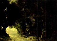 a road through the woods by carl henry von ahrens