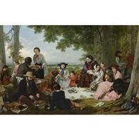 a picnic by henry nelson o'neil