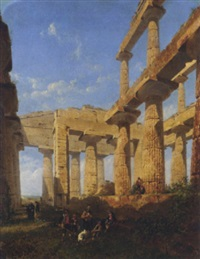 Travelers resting at the great temple..., 1863–1863