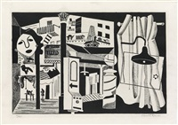 sixth avenue el by stuart davis
