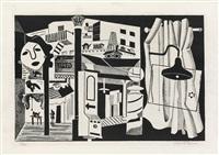 sixth avenue el by stuart davis